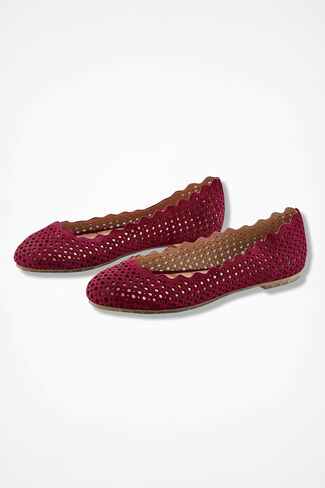 """Carlee"" Flats by Me Too®, Red, large"