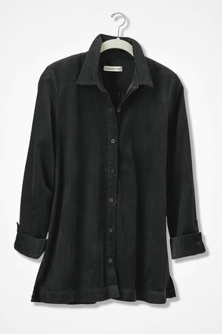 Pinwale Big Shirt, Black, large