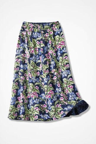 Bouquets-n-Dots Reversible Skirt, Purple, large