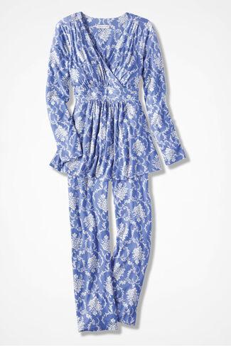 Floribunda Knit PJs, Perfect Peri, large
