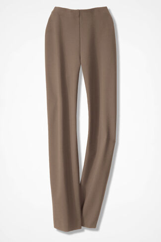 Holly Summer-Weight Ponte Pants, Portabella, large