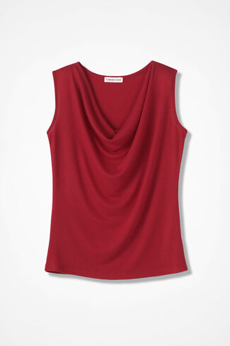 Drape-Neck Shell, Dover Red, large