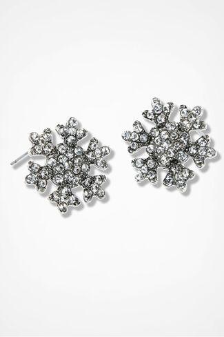 Winter Elegance Earrings, Silver, large
