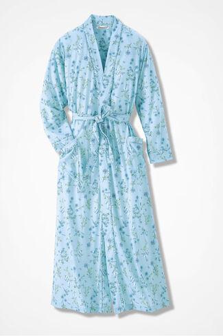 Early Bird Knit Robe, Dusty Aqua, large