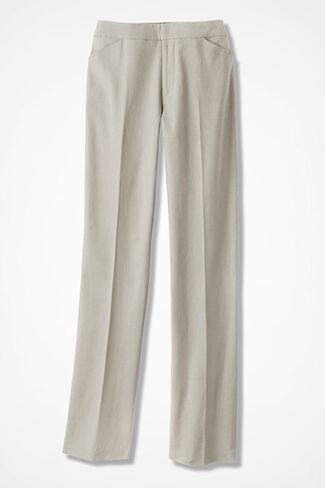 Relaxed Linen Pants, Flax, large