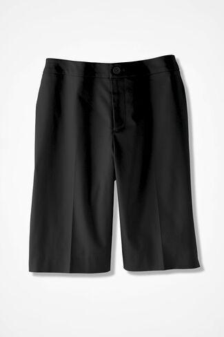 CottonLuxe™ City Shorts, Black, large