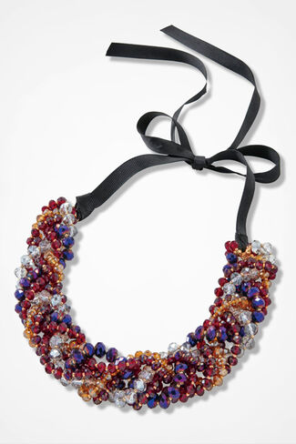 Beaded Twist Necklace, Multi, large