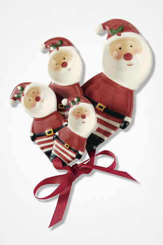 Santa's Merry Measuring Spoons, Red, large