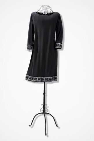 Border of Riches Dress, Black, large