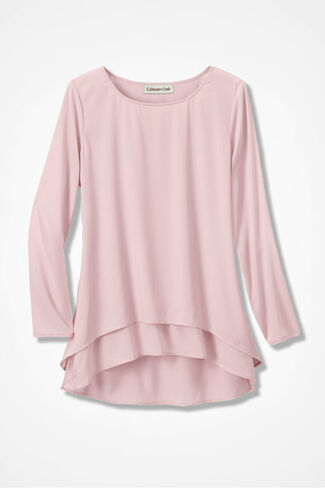 Lovely Layers High/Low Tunic, Petal Pink, large