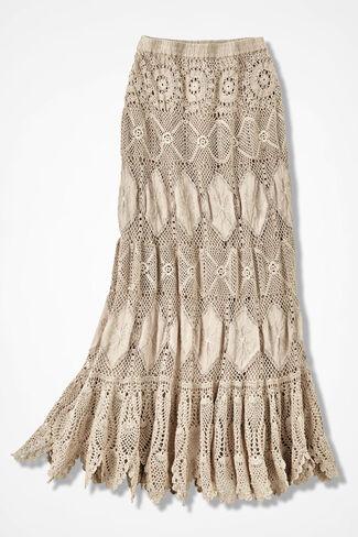 Free Spirit Crochet Maxi Skirt, Vanilla, large