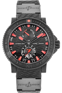 Stainless Steel and Rubber Marine Diver Black Sea Automatic