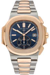 18K Rose Gold and Stainless Steel Nautilus Chronograph Automatic