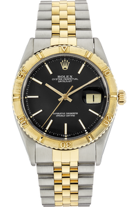 18K Yellow Gold and Stainless Steel Datejust Thunderbird Automatic Circa 1970s
