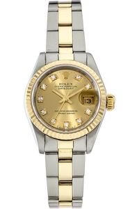 18K Yellow Gold and Stainless Steel Date Automatic Circa 1987
