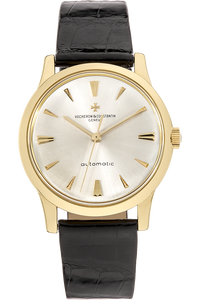 Round Circa 1960s Yellow Gold Automatic