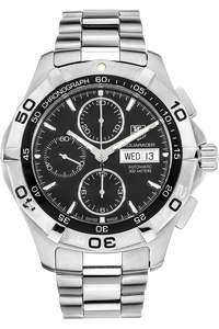 Stainless Steel Aquaracer Day-Date Chronograph Automatic