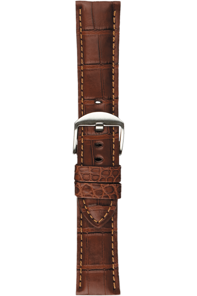 22 mm Chestnut Alligator Strap