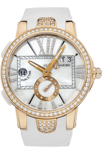 18K Rose Gold Executive Dual Time Lady Automatic