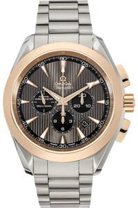 18K Rose Gold and Stainless Steel Seamaster Aqua Terra Co-Axial Chronograph Automatic