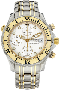 18K Yellow Gold and Stainless Steel Seamaster Chronograph Automatic