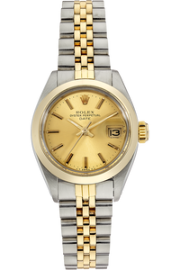 18K Yellow Gold and Stainless Steel Date Automatic Circa 1982