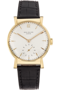 Round Reference 1584 Circa 1950s Yellow Gold Manual