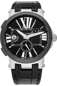 Stainless Steel and Ceramic Executive Dual Time Automatic