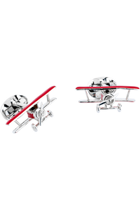 BiPlane Cufflinks with Rotating Propeller