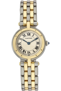 18K Yellow Gold and Stainless Steel Panthere VLC Quartz