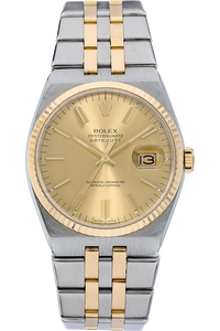 18K Yellow Gold and Stainless Steel Datejust Quartz Circa 1985