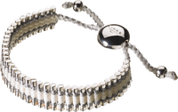 Friendship Bracelet - Pewter/White