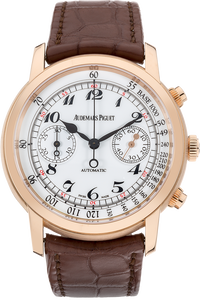 18K Rose Gold Jules Audemars Chronograph Automatic