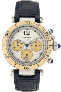 18K Yellow Gold and Stainless Steel Pasha Chronograph Quartz