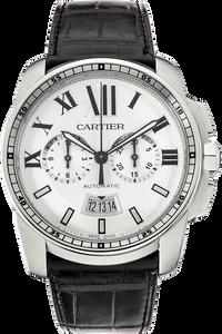 Stainless Steel Calibre de Cartier Chronograph Automatic