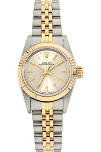 Oyster Perpetual Circa 1987 Yellow Gold and Stainless Steel Automatic