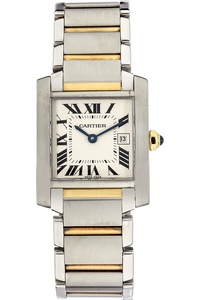 Tank Francaise Yellow Gold and Stainless Steel Quartz