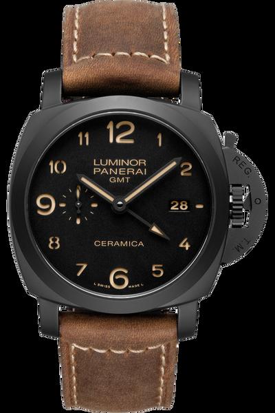 panerai watches authorized retailer tourneau panerai luminor 1950 3 days gmt automatic ceramica 44mm