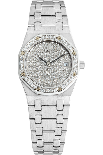 18K White Gold Royal Oak Quartz