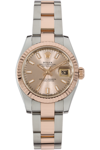18K Rose Gold and Stainless Steel Datejust Automatic