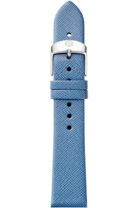 16MM Smokey Blue Thin Saffiano Strap