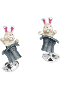 Rabbit in Hat Cufflinks