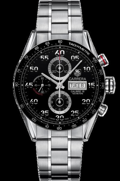 Carrera Automatic Chronograph 43 mm with Black Aluminum