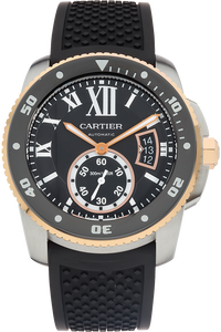 18K Rose Gold and Stainless Steel Calibre De Cartier Diver Automatic