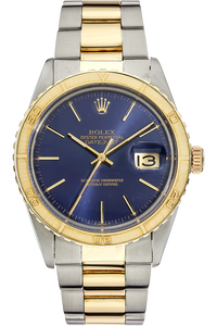 18K Yellow Gold and Stainless Steel Datejust Turn-O-Graph Thunderbird Automatic Circa 1979