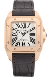 18K Rose Gold Santos 100 Automatic