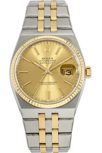 18K Yellow Gold and Stainless Steel Datejust Quartz Circa 1984