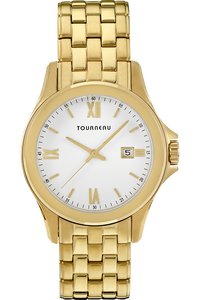 Men's Gold Tone White Dial Bracelet