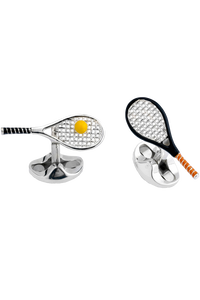 Tennis Racket and Ball Cufflinks