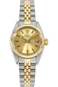 18K Yellow Gold and Stainless Steel Datejust Automatic Circa 1983